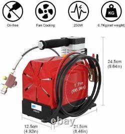 12V 30Mpa Car Air Compressor Pump 4500PSI PCP Electric High Pressure System