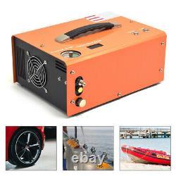 12V High Pressure Air Pump Scuba PCP Compressor Auto-Stop 110/220V 30MPA 4500PSI