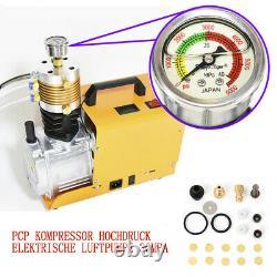 1800W High Pressure Air Compressor PCP Airgun Scuba Air Pump 30MPA 4500PSI DE
