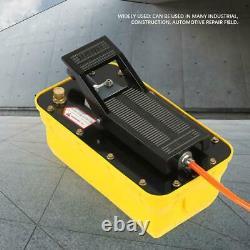 3/8 NPT Single Acting Hydraulic Foot Pump 2.3L Tank Pedal High Pressure 700MPA