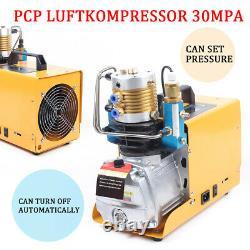 300Bar Auto Stop High Pressure Air Compressor Pump Paintball Airgun Rifle 30MPA