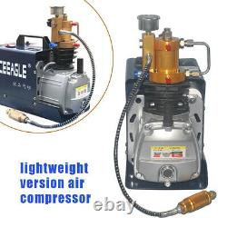 300Bar High Pressure Air Compressor Pump Manual Stop PCP Paintball Pump 0-30MPa