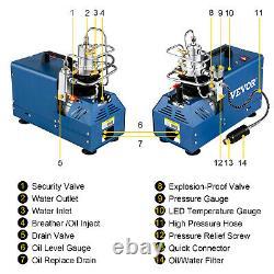 30MPA/1800W High Pressure Air Compressor Pump Auto Stop Paintball Airgun Rifle