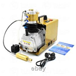 30MPA 4500PSI High Pressure Air Compressor PCP Airgun Scuba Air Pump autoshut