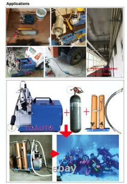30MPA High Pressure Air Pump Electric PCP Compressor Rifle Scuba Diving 4500PSI