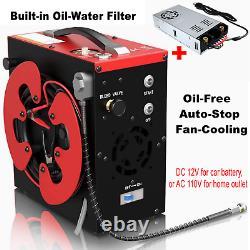 30MPa/4500PSI Electric Auto Stop Air Compressor Pump PCP High Pressure Rifle Set