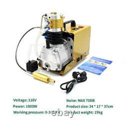 30MPa Air Compressor Auto Stop PCP Airgun Pump Electric 4500PSI High Pressure