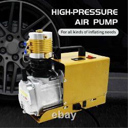 30MPa Air Compressor PCP Scuba Pump Electric High Pressure Preset 4500PSI 220V