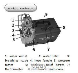 30MPa Air Compressor Pump 220V PCP Electric 4500PSI High Pressure YONG HENG