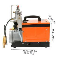 30MPa High Pressure Air Compressor Pump Auto Stop Paintball Airgun Rifle PCP UK