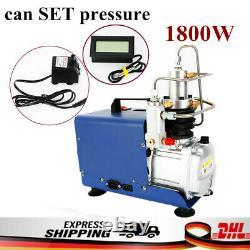 30MPa PCP Electric 4500PSI High Pressure Air Compressor Pump Can SET Pressure