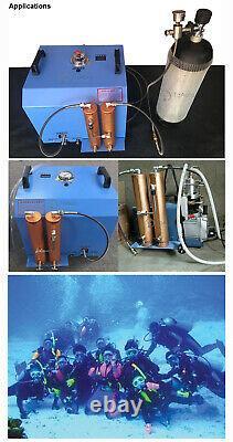 30Mpa High Pressure PCP Compressor Air Pump + Oil Water Separator Scuba Diving