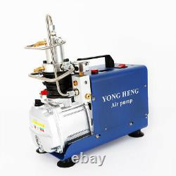 4500PSI Electric Auto Stop Air Compressor Pump PCP High Pressure 0-30MPa 300Bar