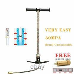 4500PSI High Pressure Pcp Hand Pump 3 Stages 30MPA Air Hand Pump For Air Rifle