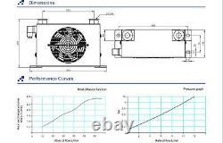New 60L/Min HIGH PRESSURE 20Bar / 2Mpa Hydraulic Oil Cooler DC24V (AJ-0608T)