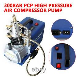 New High Pressure Air Compressor Pump 30Mpa 300 Bar 4500PSI Water/Oil Separator