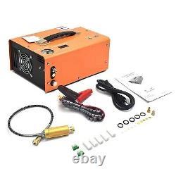 Portable 30MPA 4500PSI High Pressure Air Pump Scuba PCP Compressor Auto-Stop UK