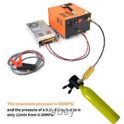 Portable DC 12V PCP Air Compressor 4500PSI 30Mpa High Pressure Pump 110V/220V
