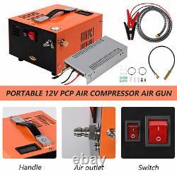 12 V Portable 30 Mpa 4500 Psi Pompe À Air Haute Pression Pcp Compresseur Auto-stop