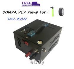 12v-220v 4500psi 300bar 30mpa Pcp Pompe À Air Comprimé Transformateur Haute Pression