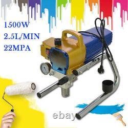 1500w Pulvérisateur De Peinture Airless Haute Pression 22mpa 2,5l/min Peinture De Pistolet À Vaporisateur Royaume-uni