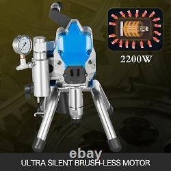 2200w Pulvérisateur De Peinture Airless Pistolet De Pulvérisation De Mur Haute Pression 23mpa
