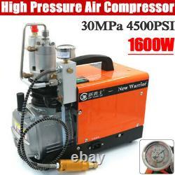 30mpa 300bar 1.6kw Pompe À Air Électrique Pcp Compresseur D'air Aintball Haute Pression