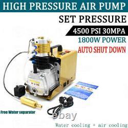 30mpa 4500psi Compresseur D'air Haute Pression Pcp Airgun Scuba Air Pump Autoshut