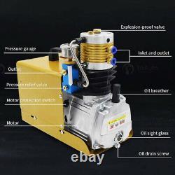 30mpa Compresseur D'air Cp Pompe De Plongée Électrique Haute Pression Préréglage 4500psi 220v