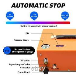 30mpa Pompe Haute Pression Airgun Pcp Compresseur D'air Auto-stop Dc12v Ac110v/220v