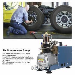 4500psi Pcp Pompe De Compresseur D'air Électrique Haute Pression 30mpa Refroidissement De L'air Et De L'eau