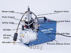 Ajustable Auto-stop 30mpa Haute Pression 110v Compresseur D'air Électrique Rifle Pcp