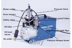 Compresseur De Pompe À Air Haute Pression Yong Heng Cp Airgun Scuba 30mpa 4500psi 110v
