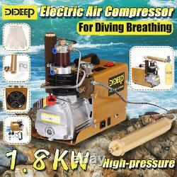 Dideep 40mpa 4500psi Compresseur D'air Haute Pression Système Électrique Bouteille De Plongée