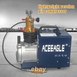 Pompe À Compresseur D'air Haute Pression 300 Bars Arrêt Manuel Pompe À Boule De Peinture Pc 0-30mpa