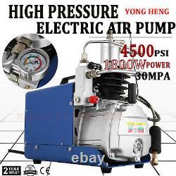 Pompe Compresseur D'air 30mpa Pcp Electric 4500psi Refroidissement À L'eau Haute Pression 220v
