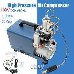 Pompe De Compresseur D'air De 30mpa 110v Pc Electric 4500psi Rifle De Système Haute Pression