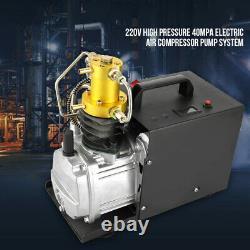 Pompe Hydraulique À Compresseur D'air 40mpa Pcp Electric 4500psi Pompe À Haute Pression